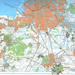 Публичная кадастровая карта Санкт Петербурга: единицы территориального деления