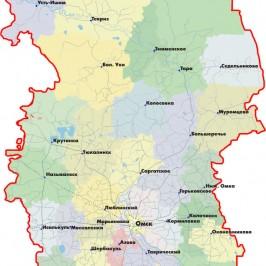 Публичная кадастровая карта Омской области: характеристика территории