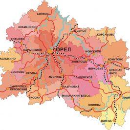 Кадастровая карта Орловской области официальный сайт: территориальные границы