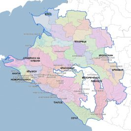 Публичная кадастровая карта Краснодарского края 2017: территории области