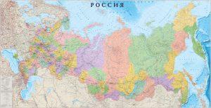 карта России применяется