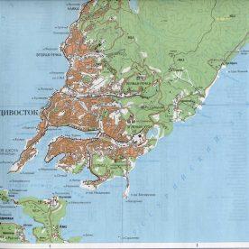 Карта Владивостока
