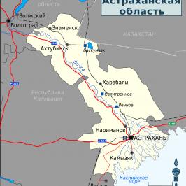 Публичная кадастровая карта Астраханской области: деление региона