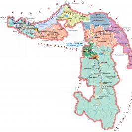 Публичная кадастровая карта республики Адыгея 2017: объекты недвижимости республики