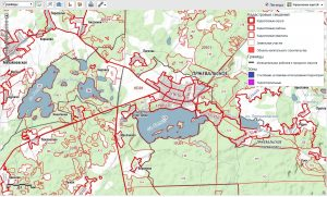 отображаются данные о границах и точном расположении земельных участков