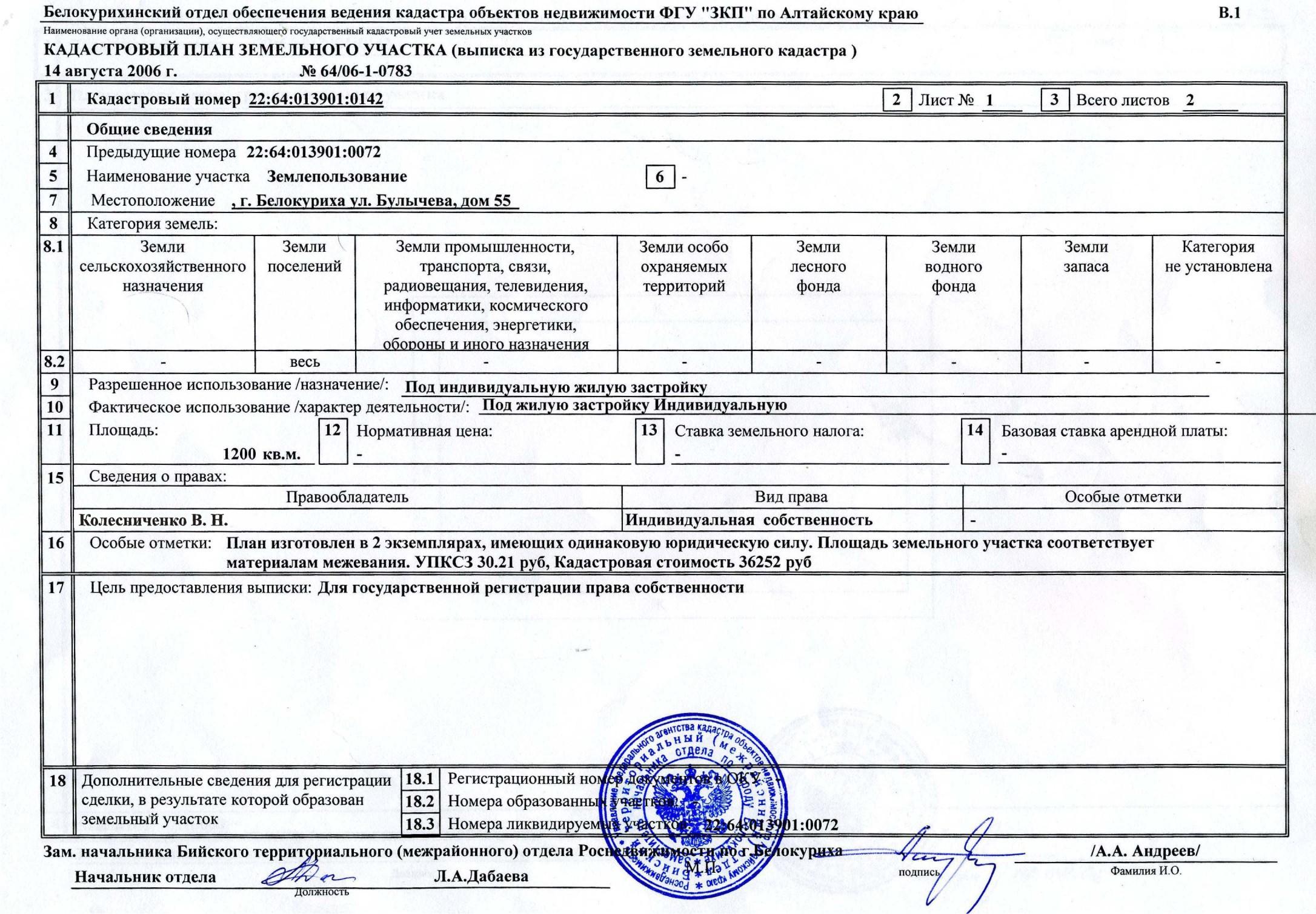 Как выглядит информация о собственнике в выписке из ЕГРН.