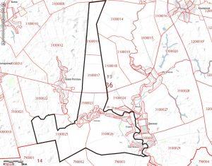 План местности представлен в масштабе