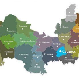 Публичная кадастровая карта республики Мордовия: данные территорий Республики