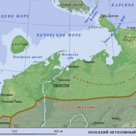 Публичная кадастровая карта Ненецкого автономного округа
