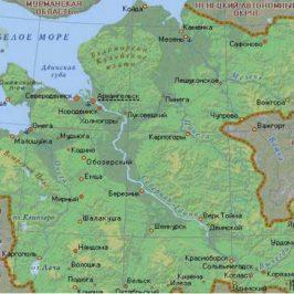 Публичная кадастровая карта Архангельской области