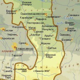 Публичная кадастровая карта республики Ингушетия