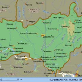 Публичная кадастровая карта республики Марий Эл