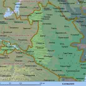Публичная кадастровая карта республики Калмыкия