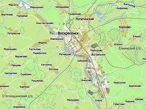 Публичная кадастровая карта Воскресенский район