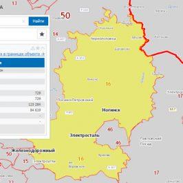 Публичная кадастровая карта Ногинский район (Московской области)