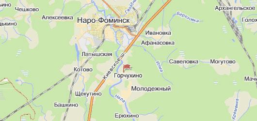Публичная кадастровая карта Наро Фоминского района Московской области