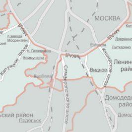 Публичная кадастровая карта Ленинский район (Московской области)