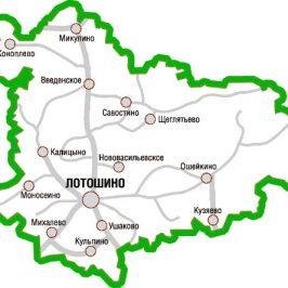 Публичная кадастровая карта Лотошинский район (Московской области)