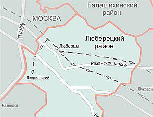 Публичная кадастровая карта Люберецкий район (Московской области)