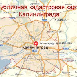 Публичная кадастровая карта Калининграда