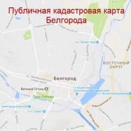 Публичная кадастровая карта Белгорода