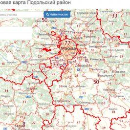 Публичная кадастровая карта Подольский район