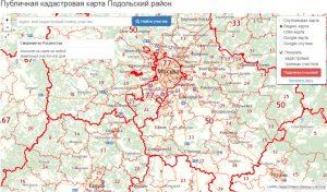 карта Подольский район