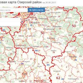 Публичная кадастровая карта Озерский район (Московской области)