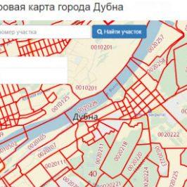 Публичная кадастровая карта города Дубна (Московская область)