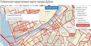 карта города Дубна