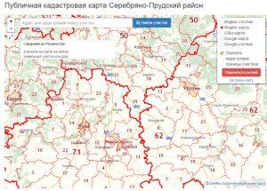 Публичная кадастровая карта Серебряно-Прудский район (Московская область), кадастровая карта Серебряно-Прудский район