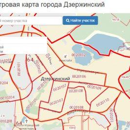 Публичная кадастровая карта города Дзержинский (Московская область)