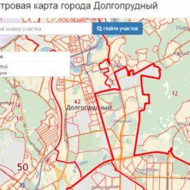 Публичная кадастровая карта города Долгопрудный