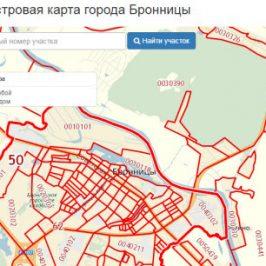 Публичная кадастровая карта города Бронницы (Московская область)