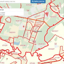 Публичная кадастровая карта города Протвино