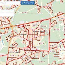 Публичная кадастровая карта города Краснознаменск