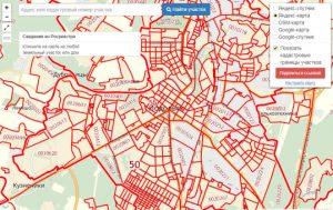 Публичная кадастровая карта города Подольск