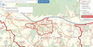 Публичная кадастровая карта города Пущино
