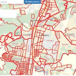Публичная кадастровая карта города Климовск