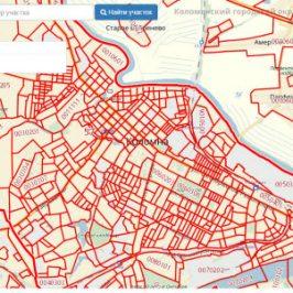 Публичная кадастровая карта города Коломна