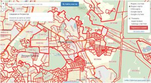 Публичная кадастровая карта города Ивантеевка