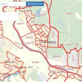 Публичная кадастровая карта города Лыткарино
