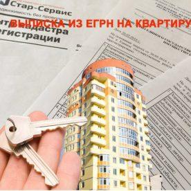 Выписка из ЕГРН на квартиру